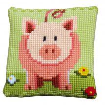 Kit cuscino fori grossi - Vervaco - Cuscino da ricamare piccolo porcino