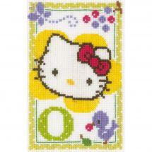 Kit Punto Croce - Vervaco - Hello kitty lettera O