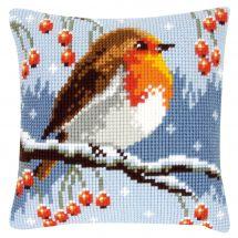 Kit cuscino fori grossi - Vervaco - Rossa gola in inverno