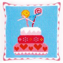 Kit cuscino fori grossi - Vervaco - Dolce di compleanno
