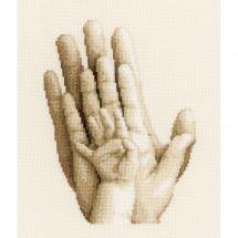 Kit Punto Croce - Vervaco - Delle mani