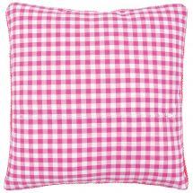 Retro di cuscino  - Vervaco - Vichy rose e bianco