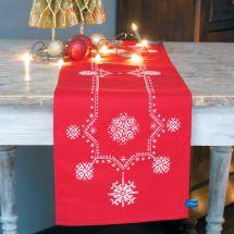Kit runner da ricamare - Vervaco - Stelle bianche di Natale
