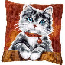 Kit cuscino fori grossi - Vervaco - Gatto con collare