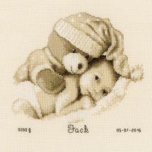 Kit Punto Croce - Vervaco - Bambino con orsacchiotto