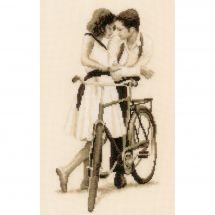 Kit Punto Croce - Vervaco - Coppia con bicicletta