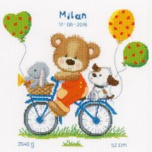 Kit Punto Croce - Vervaco - Orso in bici