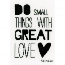 Kit Punto Croce - Vervaco - Do small things with great Love