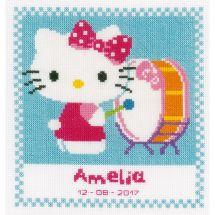 Kit Punto Croce - Vervaco - Hello Kitty gioca del tamburo