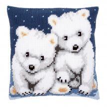 Kit cuscino fori grossi - Vervaco - Orsacchiotti polari