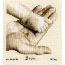 Kit Punto Croce - Vervaco - Piede di bambino su mano
