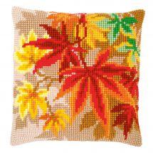 Kit cuscino fori grossi - Vervaco - Foglie d'autunno