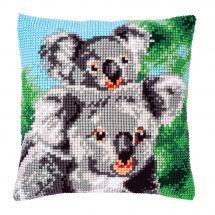 Kit cuscino fori grossi - Vervaco - Koala con bambino