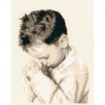 Kit Punto Croce - Vervaco - Ragazzo che prega