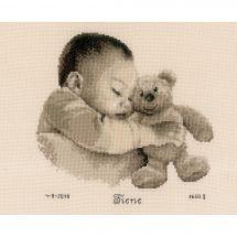 Kit Punto Croce - Vervaco - Bambino con orso