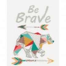 Kit Punto Croce - Vervaco - Sii coraggioso