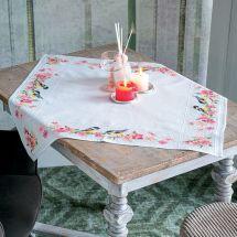 Kit tovaglia da ricamo - Vervaco - Cincie e fiori