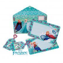 Kit bigliettini da ricamare per bambini - Vervaco - 2 kits a creare - Invito Regina delle Nevi