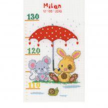 Kit di metri crescita da ricamo - Vervaco - Sotto l'ombrello