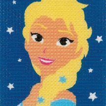 Kit di tela per bambini - Vervaco - Elsa