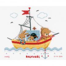 Kit Punto Croce - Vervaco - Barca a vela