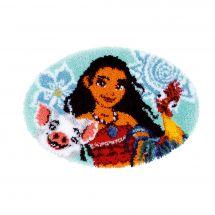 Kit tappeto a punto smirne - Vervaco - Vaiana, sono una ragazza dell'oceano