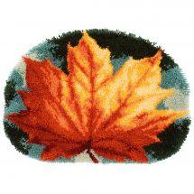 Kit tappeto a punto smirne - Vervaco - Foglio di autunno