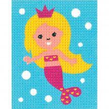 Kit di tela per bambini - Vervaco - Sirena