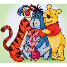 Kit ricamo diamante - Vervaco - Winnie e i suoi amici
