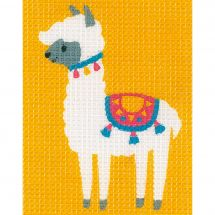 Kit di tela per bambini - Vervaco - Lama
