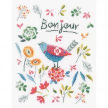 Kit Punto Croce - Vervaco - Uccello da fiore