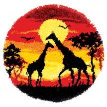 Kit tappeto a punto smirne - Vervaco - Giraffe
