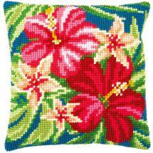 Kit cuscino fori grossi - Vervaco - Fiori botanici