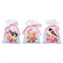 Kit sacchetto profumato da ricamo - Vervaco - Cincie e fiori