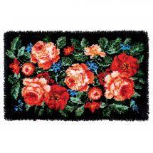 Kit tappeto a punto smirne - Vervaco - Rose