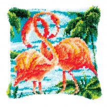 kit cuscini punto smirne - Vervaco - Fenicotteri rosa