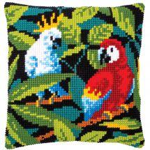 Kit cuscino fori grossi - Vervaco - Uccelli tropicali
