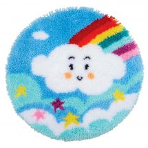 Kit tappeto a punto smirne - Vervaco - Nuvola arcobaleno