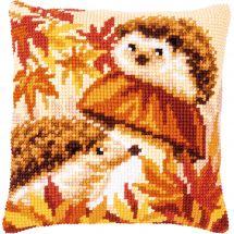 Kit cuscino fori grossi - Vervaco - Funghi ricci