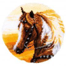 Kit tappeto a punto smirne - Vervaco - Cavallo occidentale