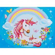 Kit di pittura per numero - Vervaco - Madre e bambino unicorno
