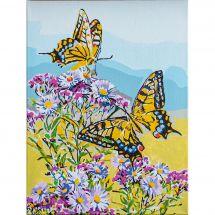 Kit di pittura per numero - Vervaco - Farfalle a coda di rondine
