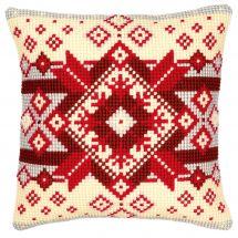 Kit cuscino fori grossi - Vervaco - Cuscino da ricamare stella nordica