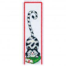 Kit segnalibro da ricamo - Vervaco - Gatto nero