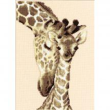 Kit Punto Croce - Vervaco - Famiglia di giraffe