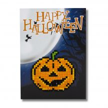 Carta con ricamo a diamante - Wizardi - Happy halloween