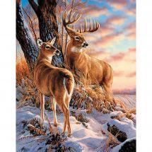 Kit ricamo diamante - Wizardi - Cervo in inverno