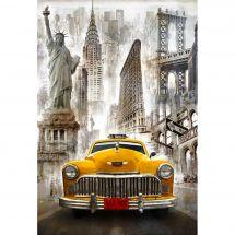 Kit ricamo diamante - Wizardi - Taxi di New York