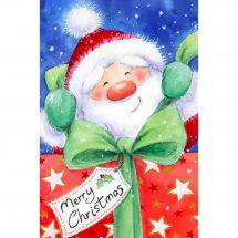 Kit ricamo diamante - Wizardi - Babbo Natale con regalo