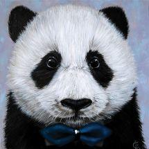 Kit ricamo diamante - Wizardi - Panda con cravatta a farfalla